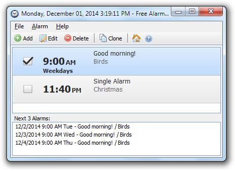 Alarme fácil no computador
