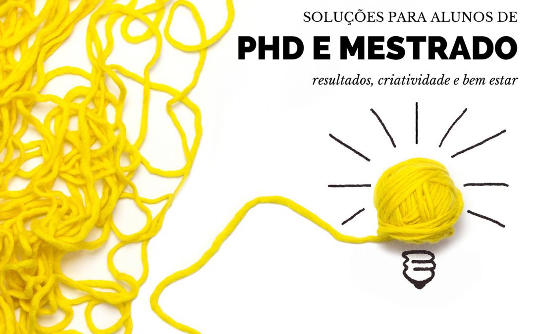 Soluções para alunos graduados (mestrado e doutoramento)
