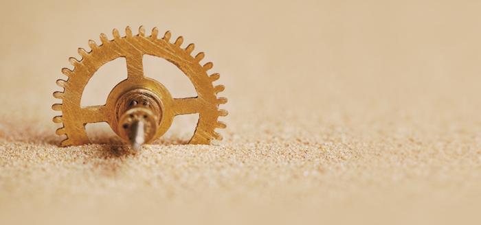 As areias nas engrenagens da nossa vida